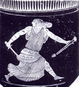 Thracian Amazon woman with sword.