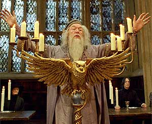 Professor Dumbledore welcomes students back to the academic year at Hogwarts.
