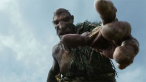 The Giant from the fairytale 'Jack and the Beanstalk' and the even more recent movie Jack the Giant Slayer.
