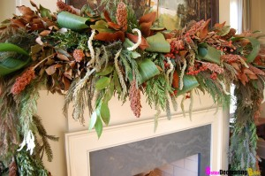 Our Green Man inspires us to use nature as we place seasonal decorations around our homes.