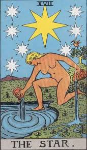 The Star (Major Arcana XVII) is a time when we get clarity and a new energy flow.